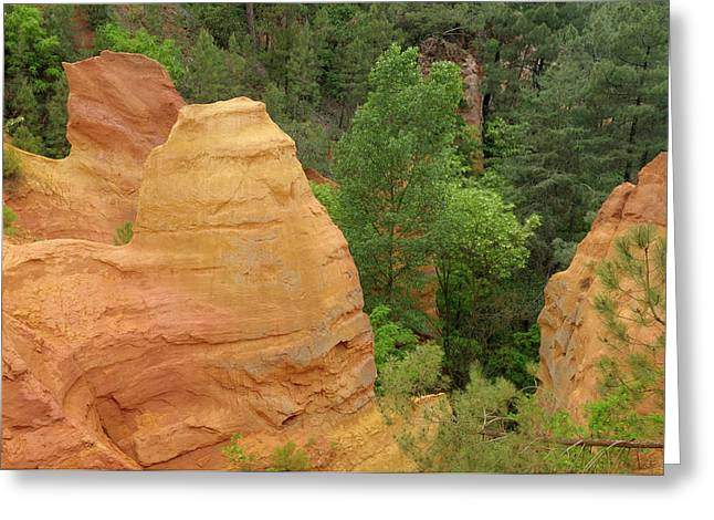 France, Vaucluse, Roussillon Greeting Card by Kevin Oke