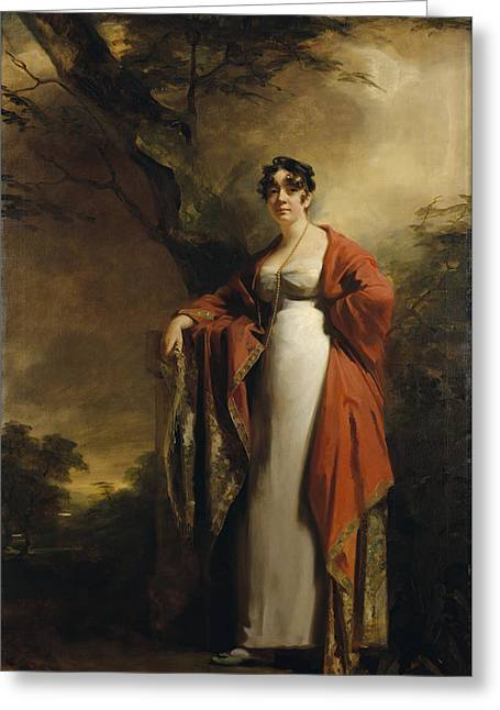 Frances Harriet Wynne, Mrs Hamilton Of Kames, Before June 1811 Oil On Canvas Greeting Card
