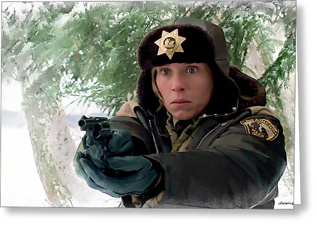 Frances Mcdormand As Marge Gunderson In The Film Fargo By Joel And Ethan Coen Greeting Card
