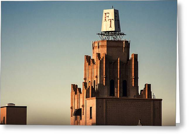 Frances Tower Penthouse Greeting Card by Eugene Campbell