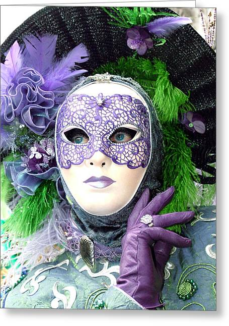 Greeting Card featuring the photograph Francine's Purple Glove by Donna Corless