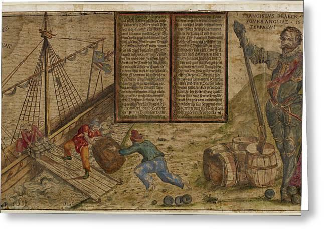 Francis Drake Greeting Card by British Library