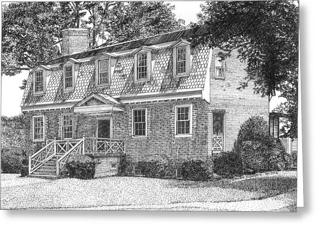 Francis Land House Greeting Card by Stephany Elsworth