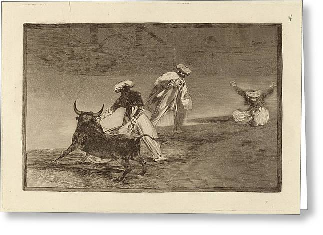 Francisco De Goya, Capean Otro Encerrado  They Play Another Greeting Card