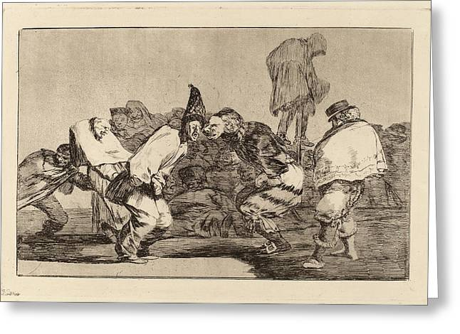 Francisco De Goya, Disparate De Carnabal Carnival Folly Greeting Card by Quint Lox