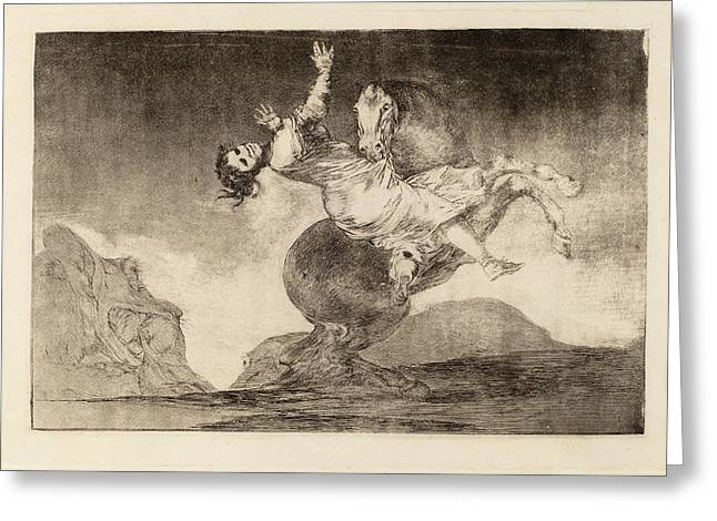 Francisco De Goya, El Caballo Raptor The Horse-abductor Greeting Card