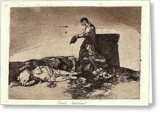 Francisco De Goya Spanish, 1746-1828. Cruel Tale Of Woe Greeting Card by Litz Collection