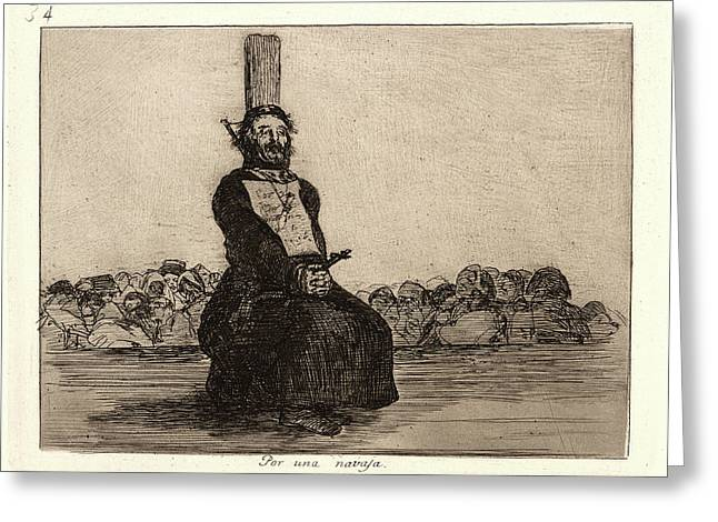 Francisco De Goya Spanish, 1746-1828. On Account Of A Knife Greeting Card by Litz Collection
