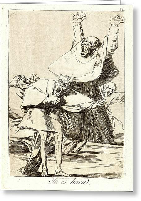 Francisco De Goya Spanish, 1746-1828. Ya Es Hora Greeting Card
