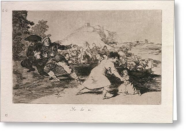 Francisco De Goya, Yo Lo Vi I Saw It, Spanish Greeting Card