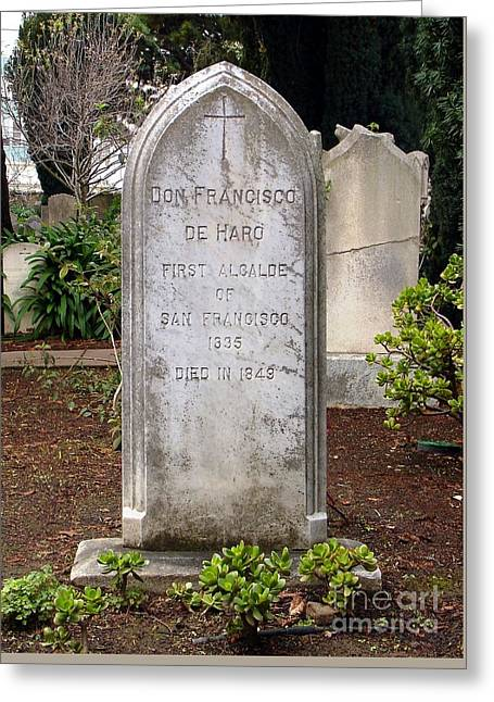 Don Francisco De Haro - Tombstone Mission Dolores Greeting Card