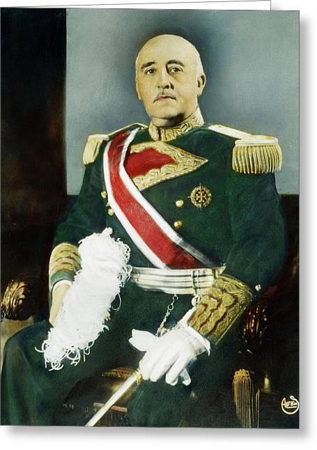 Francisco Franco (1892-1975) Greeting Card