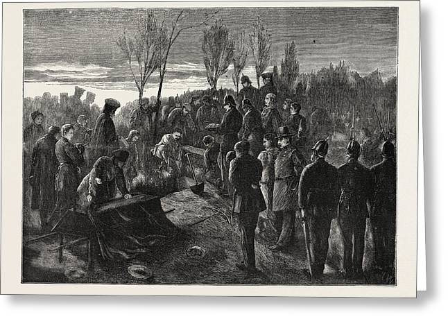 Franco-prussian War Before Paris An Officers Funeral For God Greeting Card