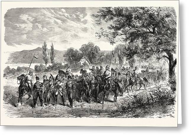 Franco-prussian War Convoy Of Prisoners Of The Army Of Metz Greeting Card by French School