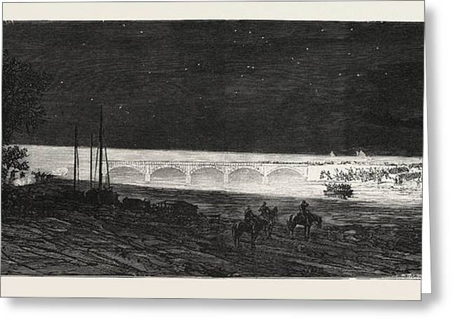Franco-prussian War French Headlights Illuminating Greeting Card