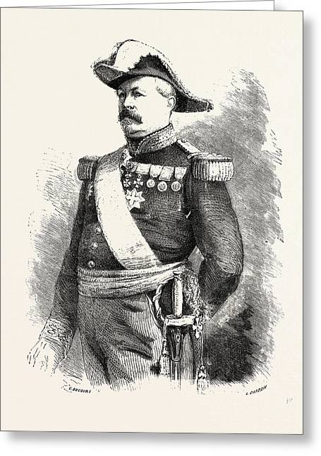 Franco-prussian War Joseph Vinoy 10 August 1803 Greeting Card by French School