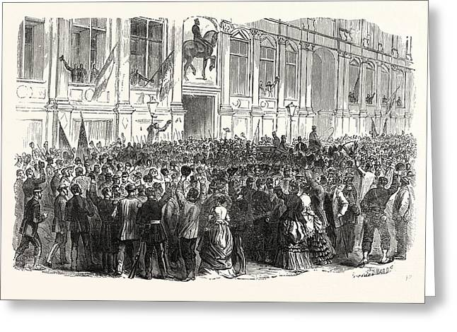 Franco-prussian War Proclamation Of The Republic In Front Greeting Card