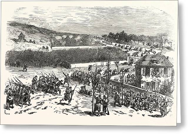 Franco-prussian War The Battle For The Heights Of Buzenval Greeting Card