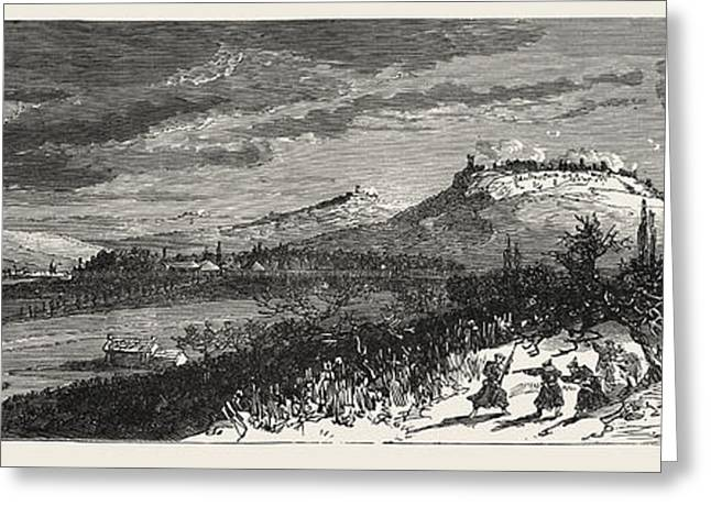 Franco-prussian War The French Position On 21 December 1870 Greeting Card by French School