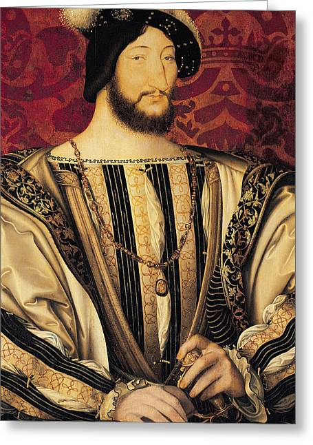 Francois I Greeting Card by Jean Clouet