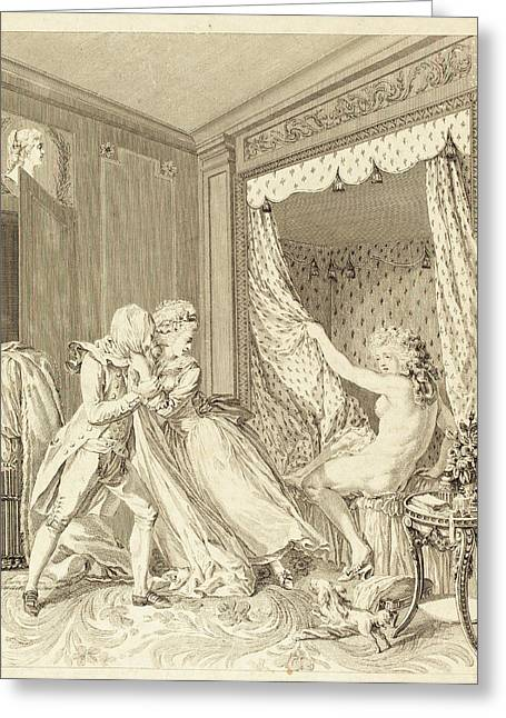 Francois-nicolas-barthelemy Dequevauviller After Antoine Greeting Card by Quint Lox