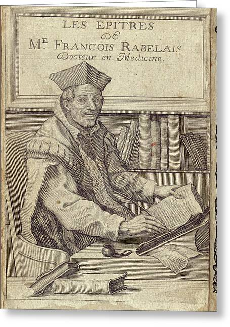 Francois Rabelais Greeting Card by British Library