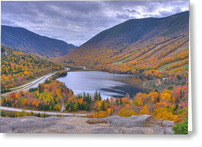 Franconia Notch From Artist's Bluff Greeting Card