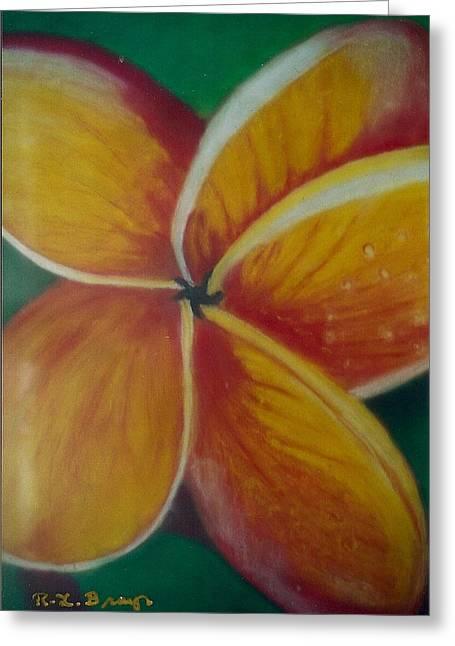 Frangipani Bloom Greeting Card