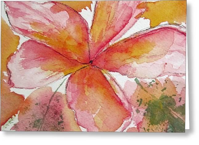 Frangipani Greeting Card by Elvira Ingram