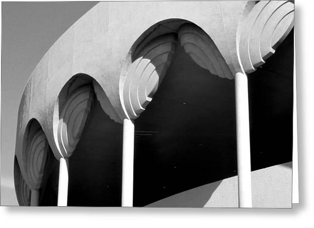 Frank Lloyd Wright Designed Auditorium Detail Greeting Card