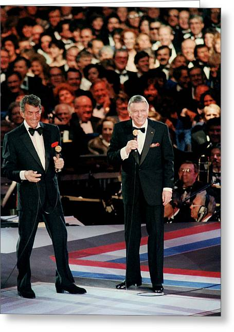 Frank Sinatra And Dean Martin Greeting Card