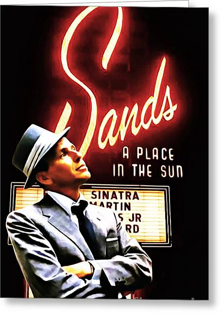 Frank Sinatra I Did It My Way 20150126brun Greeting Card by Wingsdomain Art and Photography