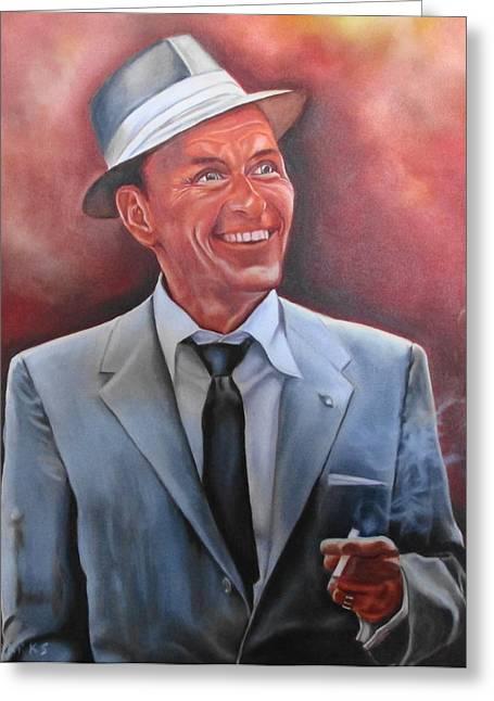Frank Sinatra Greeting Card by Mark Robinson