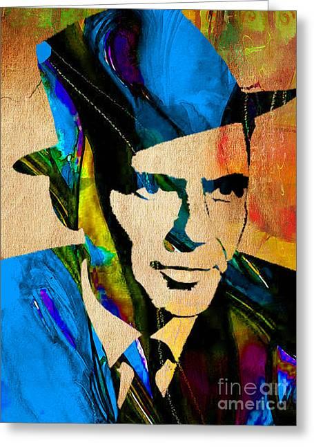 Frank Sinatra My Way Greeting Card by Marvin Blaine