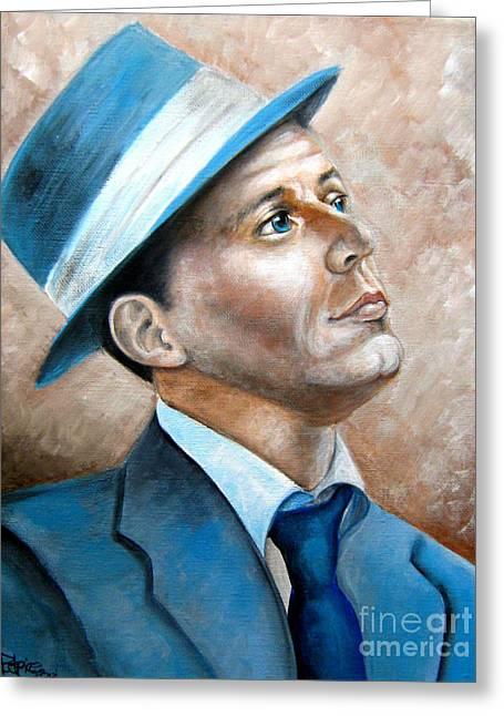 Frank Sinatra Ol Blue Eyes Greeting Card