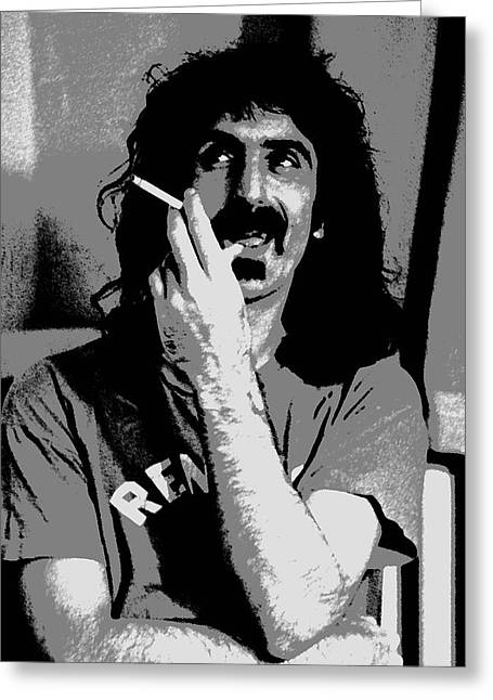 Frank Zappa - Chalk And Charcoal Greeting Card