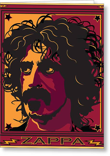 Frank Zappa Greeting Card by Larry Butterworth