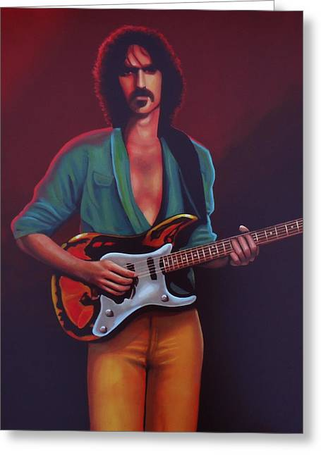 Frank Zappa Greeting Card by Paul Meijering