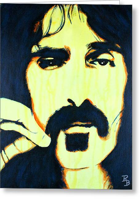 Frank Zappa Pop Art Greeting Card