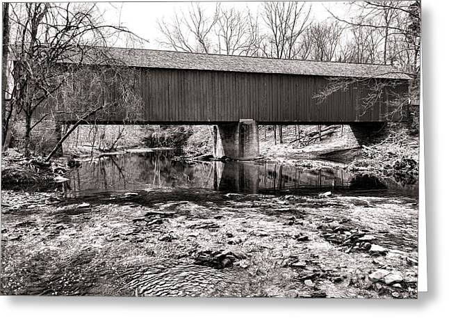 Frankenfield Bridge Over The Tinicum Creek Greeting Card by Olivier Le Queinec