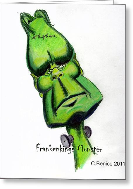 Frankenkings Monster Greeting Card
