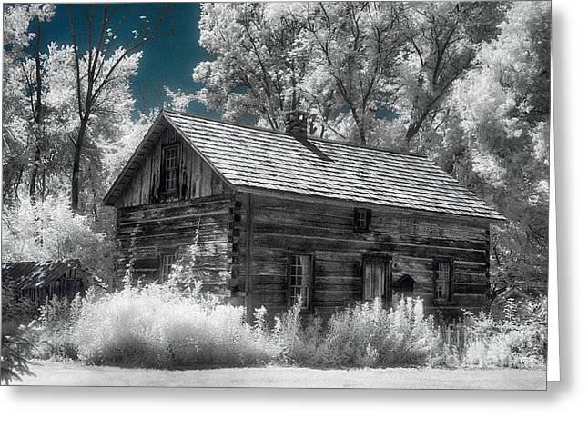 Frankenmuth Cabin Greeting Card by Jeff Holbrook