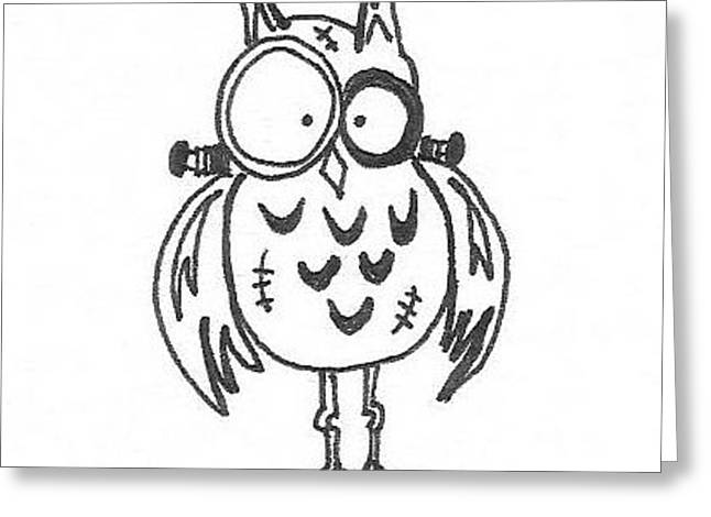 Frankenowl 1 Greeting Card