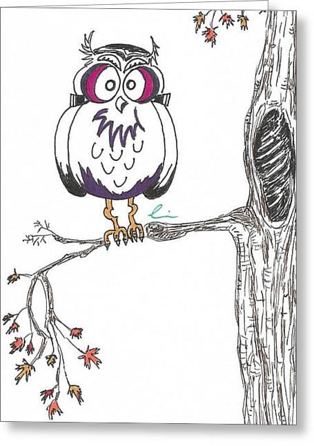 Frankenowl Tree Greeting Card