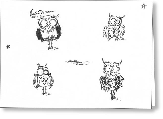 Frankenowls Greeting Card