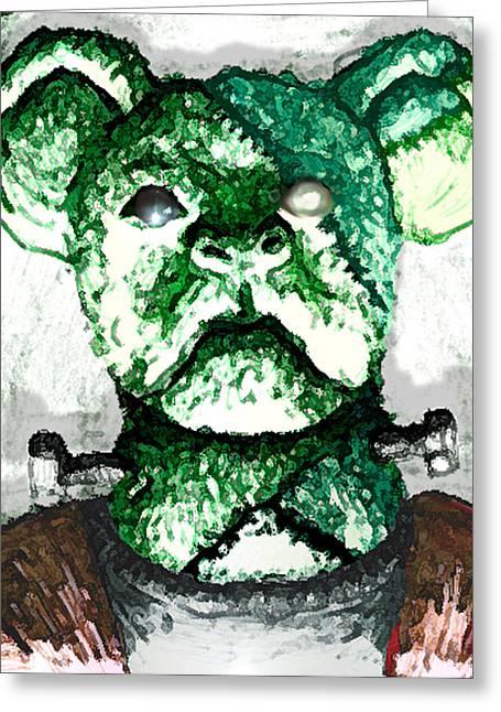 Frankenstein's Koala Greeting Card by Del Gaizo
