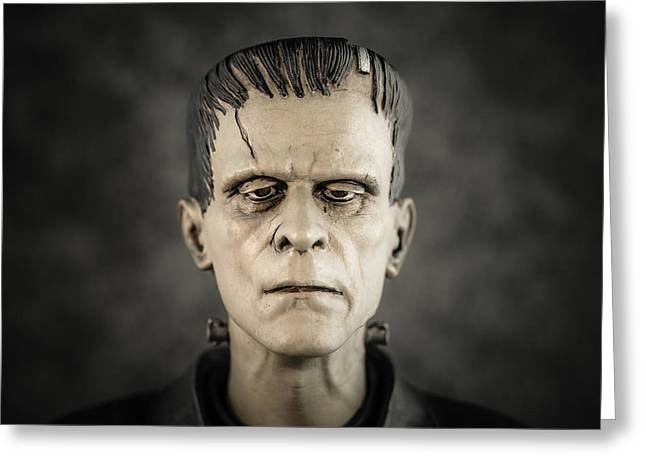 Frankenstein's Monster - Boris Karloff Greeting Card by Marco Oliveira