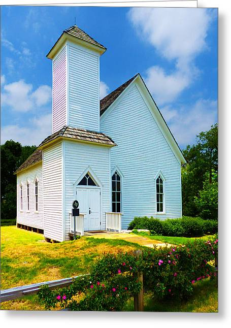 Frankford Church In Spring Greeting Card
