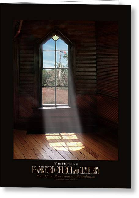 Frankford Church - Let The Sun Shine In Poster W Windmill Greeting Card by Robert J Sadler