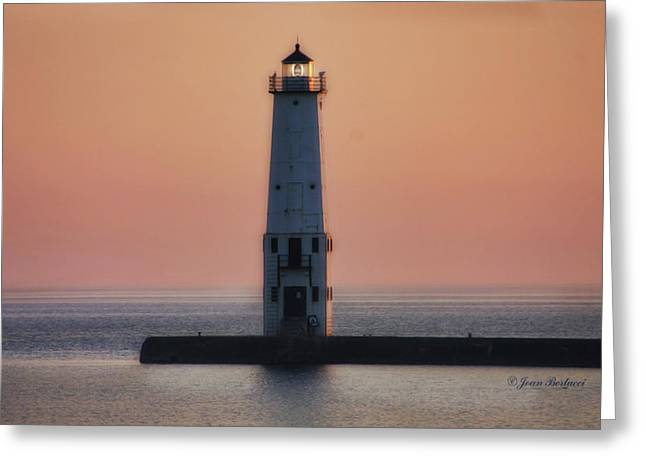 Greeting Card featuring the photograph Frankfort Lighthouse II by Joan Bertucci